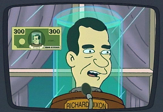Wouldn't you like a $300 stimulus check from Robot Nixon made possible by the plunder of defeated space insects?